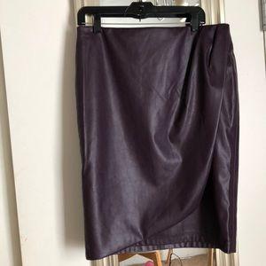 Calvin Klein leather skirt